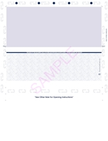 """Picture of Z-Fold 8 1/2"""" x 11"""" Check Blue"""
