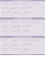 Picture of Blue (662) - Scallop Void Blank 3-On-A-Page Check