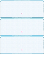 Picture of Blue (298) - Linen Blank 3-On-A-Page Check