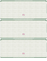 Picture of Hunter Green (348) - Linen Blank 3-On-A-Page Check