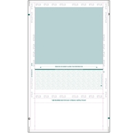 """Picture of EZ-Fold 8 1/2"""" x 14"""" Teal Check"""