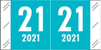 Picture of 2021 Color Tab Teal Year Label Roll